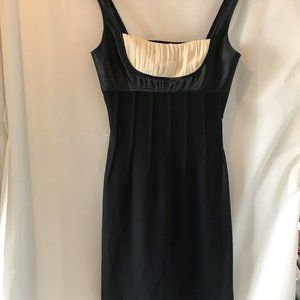 Lil Black Dress with White Accent